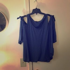 Express cold shoulder top